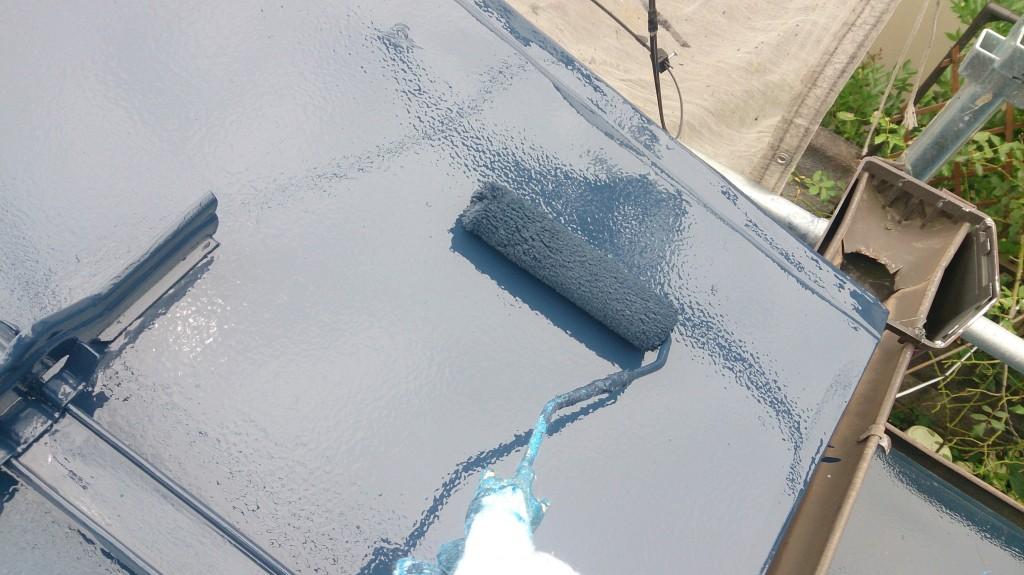 150708屋根上塗り