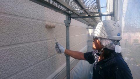 2016073001二階外壁上塗り