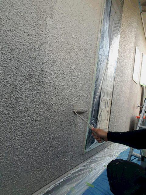 4.30F1外壁上塗り、F2破風下塗り