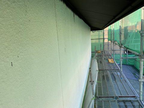 いわき馬上邸 二階壁下塗り ハフケレン下塗り中塗り_210122_0