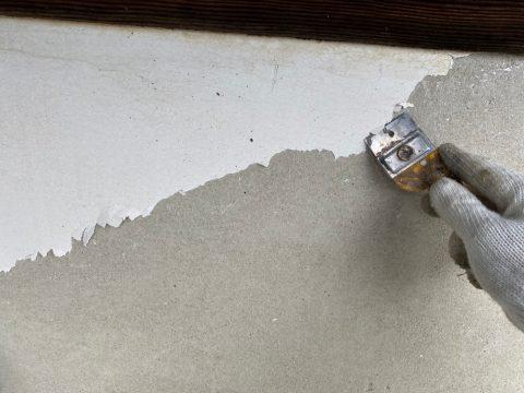 いわき馬上邸 玄関軒天 漆喰部 下塗り上塗り_210128_0