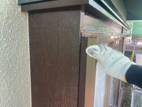 いわき馬上邸 掃除見直し 小屋根中塗り上塗り 外とう、各所下塗り テラス屋根コ